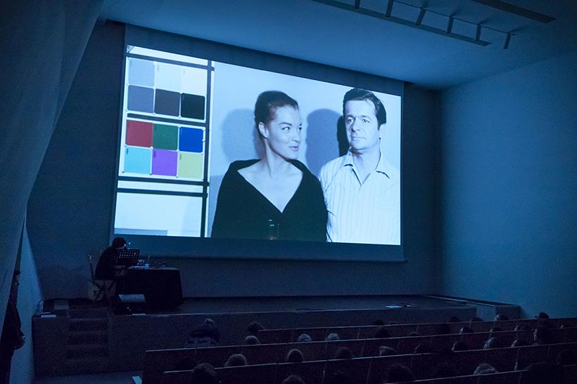 Romy Schneider and Serge Reggiani colour test